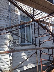 Peinture, détails fenêtres sud